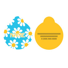 Blue Daisy HD Pet ID Tag