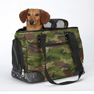 Canvas Camo Pet Carrier - Teacup Size **Clearance**