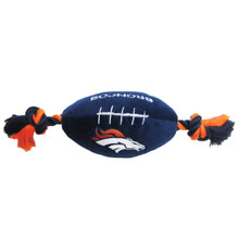 Denver Broncos NFL Squeaker Football Toy
