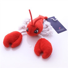 Larry Lobster Rope and Squeaker Dog Toy