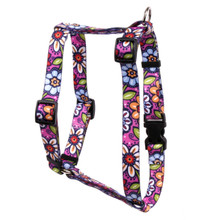 "Pink Garden Roman Style ""H"" Dog Harness"