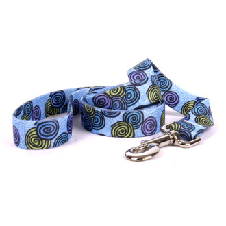Spirals Blue Dog Leash