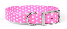 New Pink Polka Dot Elements Dog Collar