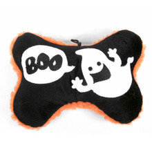 Boo!  Ghost Bone Squeaker Dog Toy