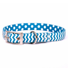 Chevron - Blueberry Uptown Dog Collar