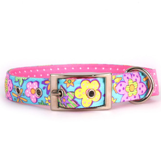 Flower Power Uptown Dog Collar