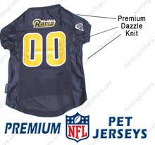 St. Louis Rams PREMIUM NFL Football Pet Jersey
