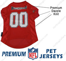 Tampa Bay Buccaneers PREMIUM NFL Football Pet Jersey