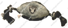 Oakland Raiders Plush Football Pet Toy