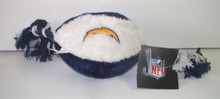 San Diego Chargers Plush Football Pet Toy