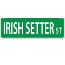 Irish Setter Street Sign