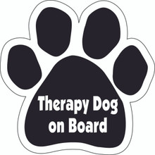 Therapy Dog On Board Paw Magnet