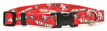 San Francisco 49ers Logo Dog Collar