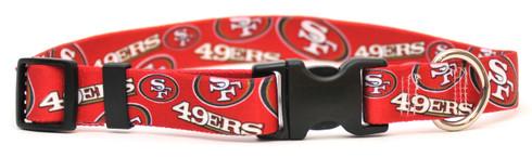 San Francisco 49ers Logo Dog Collar