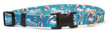 Miami Dolphins Logo Dog Collar