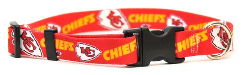 Kansas City Chiefs Logo Dog Collar