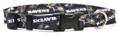 Baltimore Ravens Logo Dog Collar