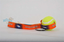Denver Broncos  Tennis Ball Tug Dog Toy