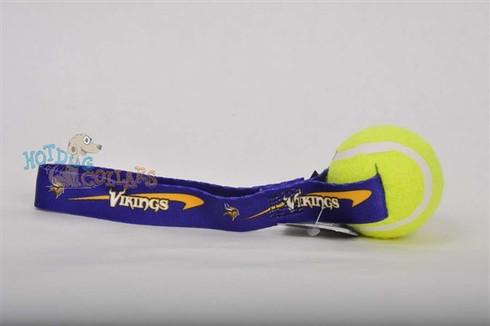 Minnesota Vikings  Tennis Ball Tug Dog Toy