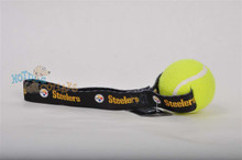 Pittsburgh Steelers Tennis Ball Tug Dog Toy