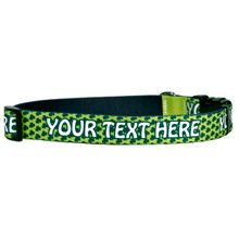 Personalized Petite Shamrock Dog Collar