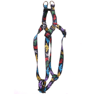 Geckos Black Step-In Dog Harness