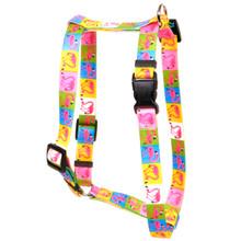 "Pink Flamingo Roman Style ""H"" Dog Harness"