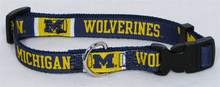U of Michigan PREMIUM Dog Collar