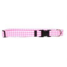 Gingham Pink Break Away Cat Collar