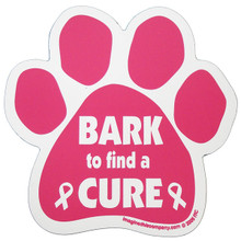 Bark to Find a Cure Paw Magnet