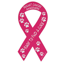 Bark to Find a Cure Pink RIBBON Magnet