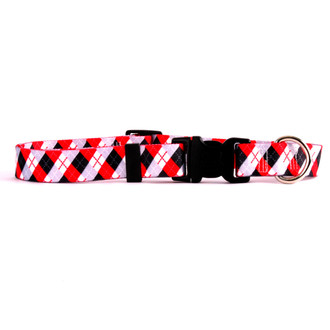 Black Argyle Break Away Cat Collar