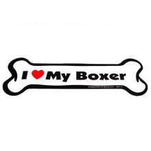 I Love My Boxer Bone Magnet