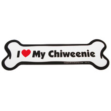 I Love My Chiweenie Bone Magnet
