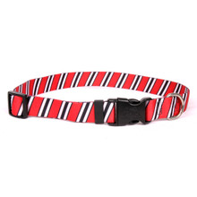 Team Spirit Red, Black and White Break Away Cat Collar