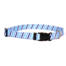 Team Spirit Lt. Blue, Dark Blue and White Break Away Cat Collar
