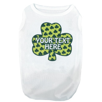 Personalized Petite Shamrocks Pet T-Shirt
