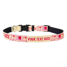 Personalized Pink Elephants Dog Collar
