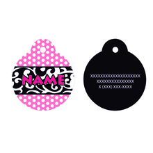 Chantilly Pink pet id tag