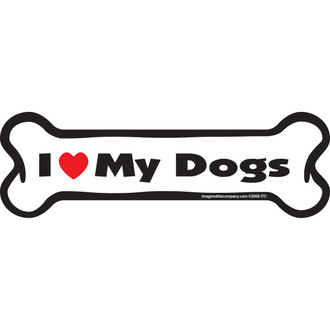 I Love My Dogs BONE Magnet