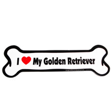 I Love My Golden Retriever Bone Magnet