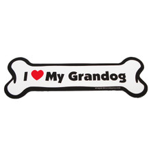 I Love My Grandog Bone Magnet