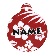 Aloha Red HD Pet ID Tag