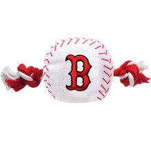 Boston Red Sox Nylon Rope Squeaker Dog Toy