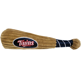 Minnesota Twins Baseball Bat Squeaker Dog Toy