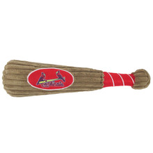 St. Louis Cardinals Baseball Bat Squeaker Dog Toy