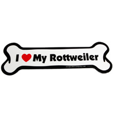 I Love My Rottweiler Bone Magnet