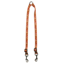 Festive Butterfly Orange Coupler Dog Leash