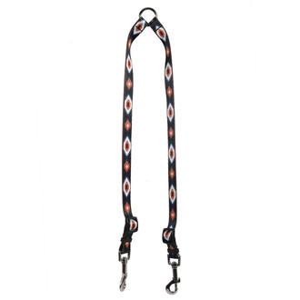 Indian Spirit Black Coupler Dog Leash
