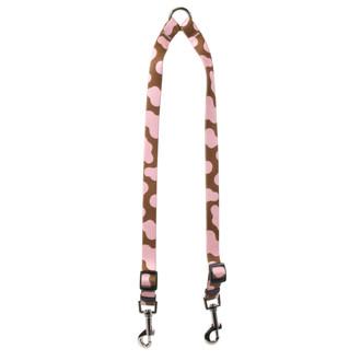Pink Cow Coupler Dog Leash